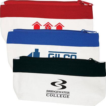 Cotton / Canvas Organiser / Pencil Case with Zipper