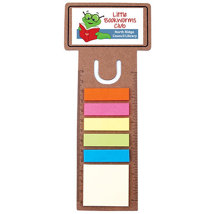 Business Card Bookmark / Ruler with Noteflags