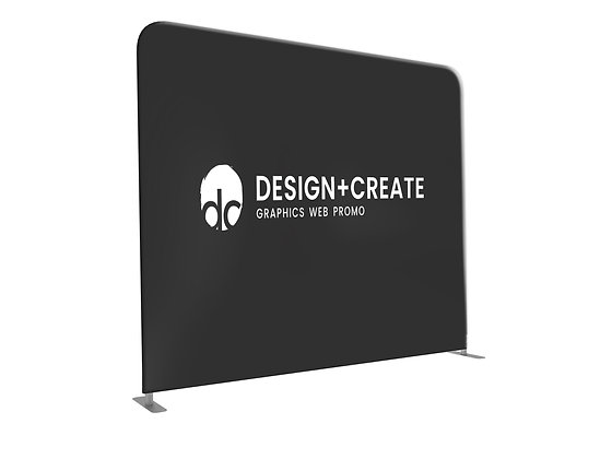 Tension Fabric Display Wall - Straight