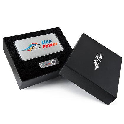Superior  Gift Set - Matrix Power Bank and Swivel Flash Drive