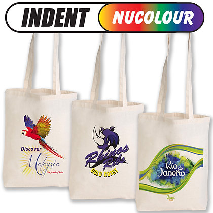 Calico Double Long Handle Conference Bag - 140 GSM