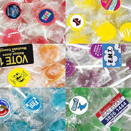 Corporate Colour Lollipops