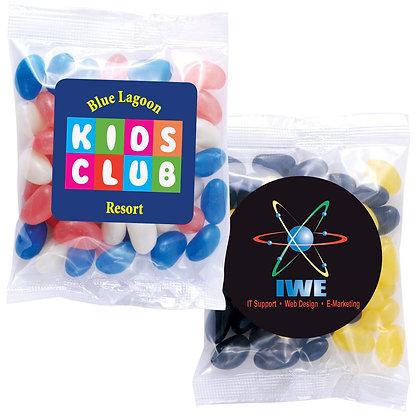 Corporate Colour Mini Jelly Beans in 50 Gram Cello Bag