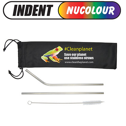 Stainless Steel Straws in Pouch