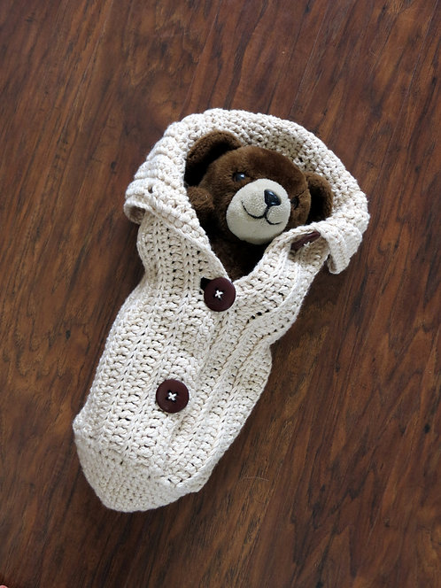 Chunky Button Cocoon Pattern