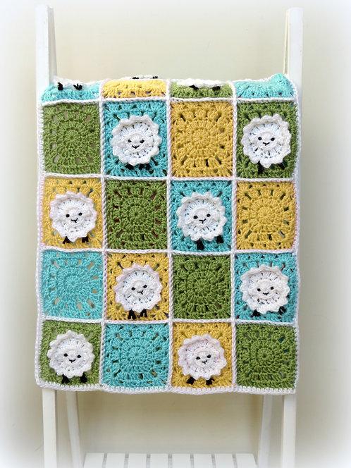 Little Sheep Baby Blanket Pattern