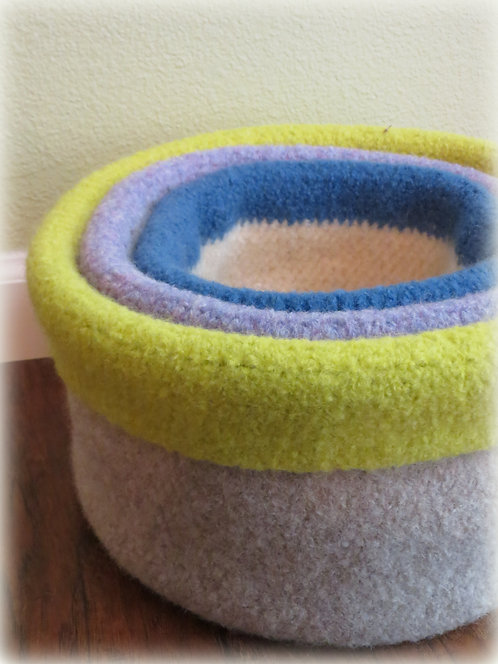 Nesting Felted Basket Pattern