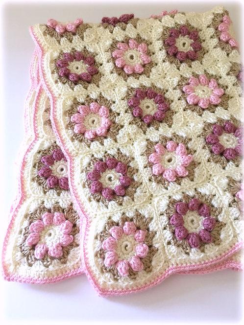 Rose Blanket & Rug Pattern