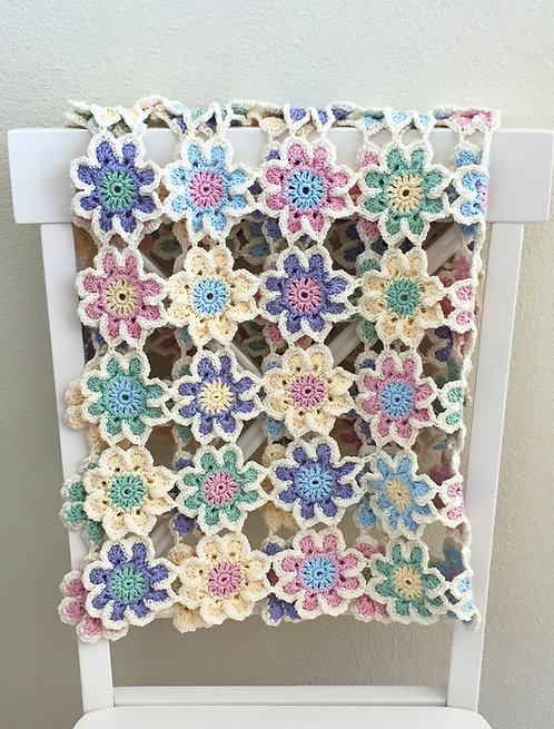 Vintage Blossoms Baby Bunting Blanket Pattern