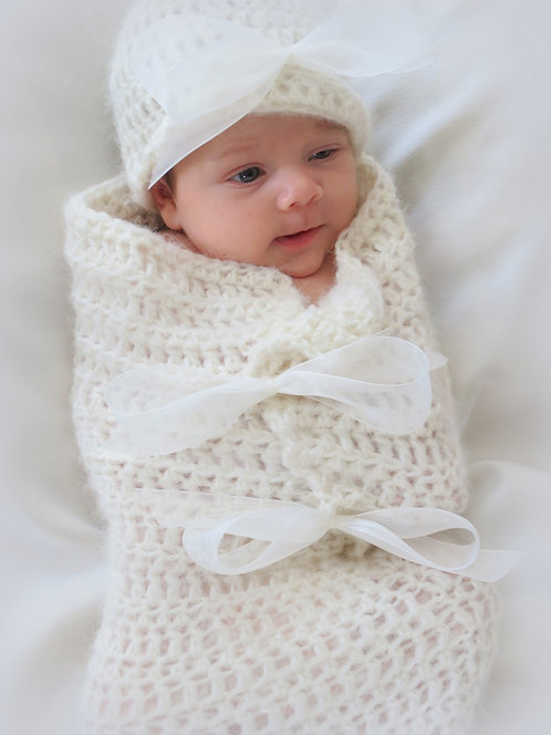 Baby Bows Cocoon and Hat Pattern