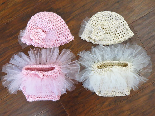 Tutu Diaper Cover and Hat Pattern