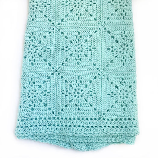 Arielle's Square Baby Blanket Crochet