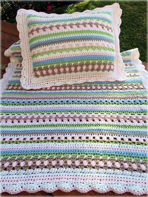 Charlotte's Garden Baby Blanket Pattern