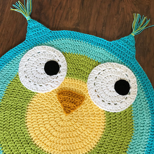 Woodland Owl Nursery Rug Pattern