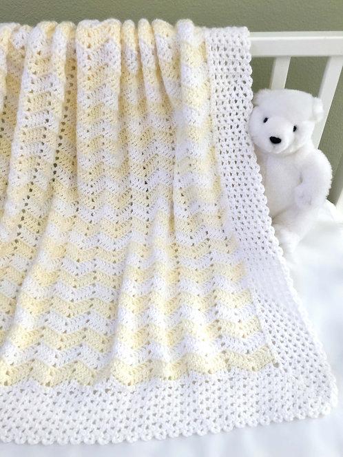 Little Ripples Baby Blanket Pattern
