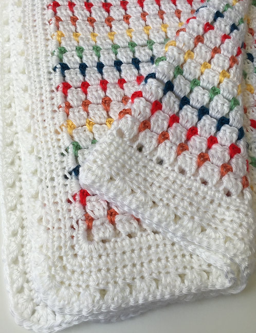Block Stitch Baby Blanket Pattern