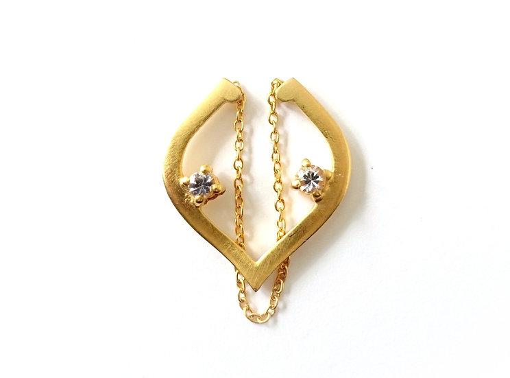 The Taji ear cuff (White Sapphire)