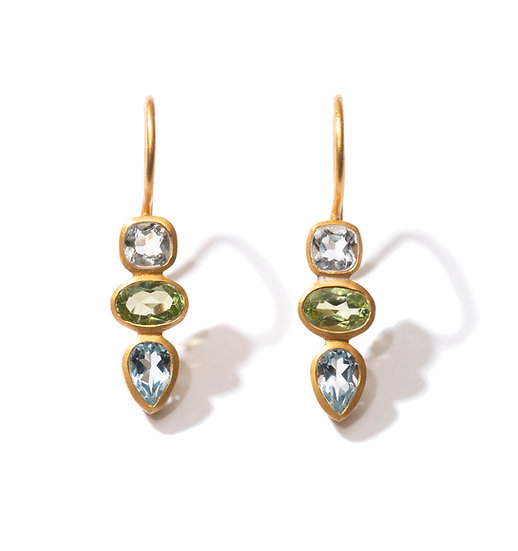 The Taji earrings (green mix)