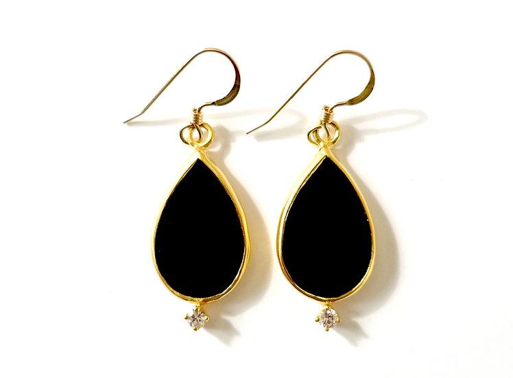 The Taji earrings (Black Onyx)