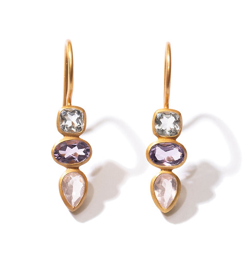 The Taji earrings (purple mix)