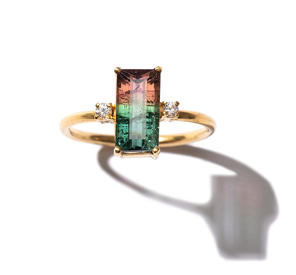 The Taji ring (Bi-color Tourmaline)