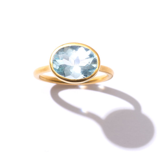 The Taji ring (Sky Blue Topaz)