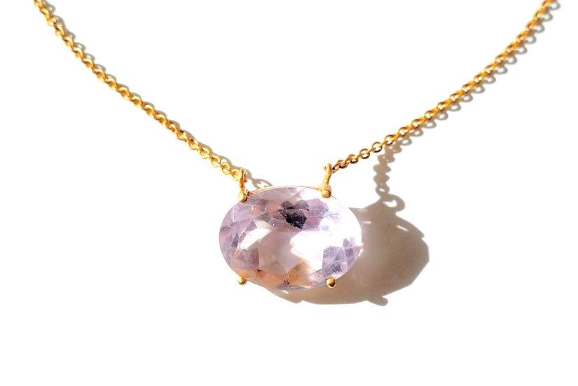 The Taji necklace (Pink Amethyst)