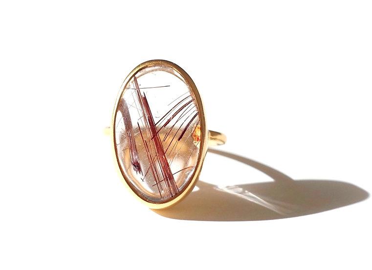 The Taji ring (Copper rutilated Quartz)