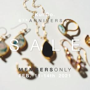 Invitation for Kui Co. 6th Anniversary Sale