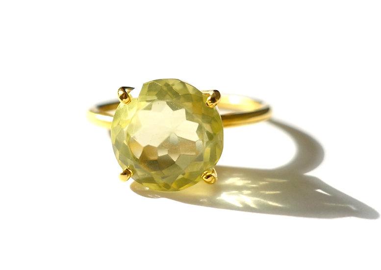 The Taji ring (Lemon Quartz)