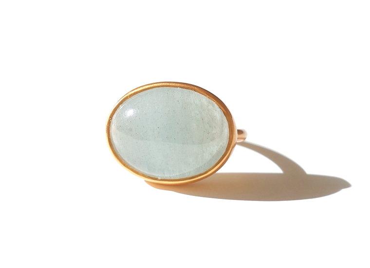 The Taji ring (Moss Aquamarine)