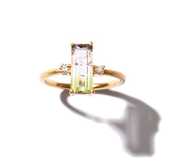The Taji ring (Bi-color Tourmaline)