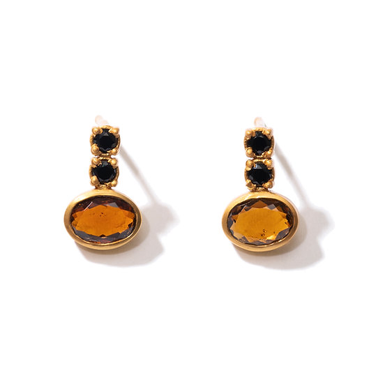 The Taji earrings (Orange Tourmaline)