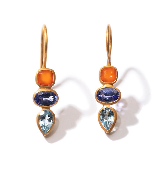 The Taji earrings (orange mix)