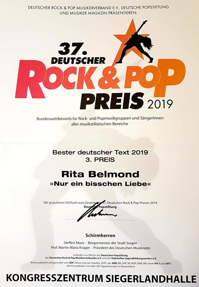 37. DEUTSCHER ROCK & POP PREIS 2019