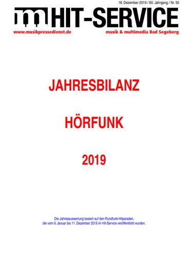 Jahresbilanz Hörfunk-Hitparade 2020