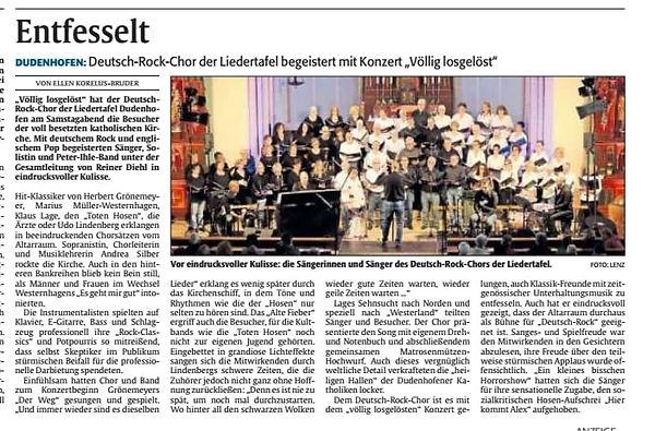 Konzert Deutsch-Rock-Chor Dudenhofen