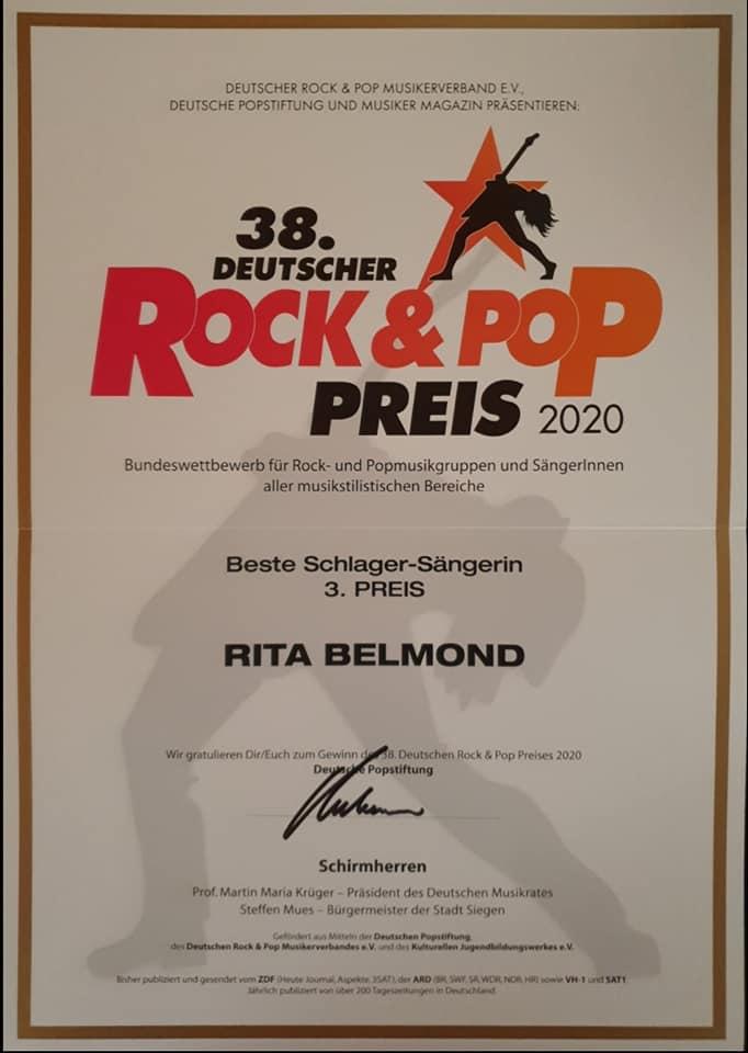 3. Preis Beste Schlager-Sängerin 2020