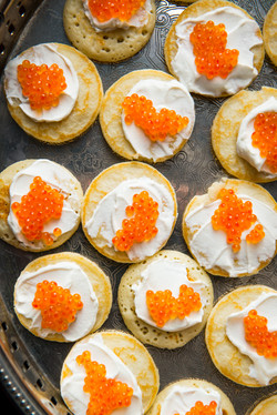 Red Caviar Hors D'oeuvre