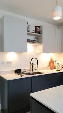 Matt grey handle less kitchen