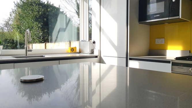 Quartz work surfaces