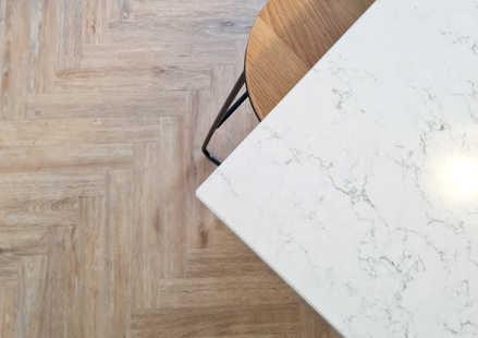 Silestone White Arabesque worktops