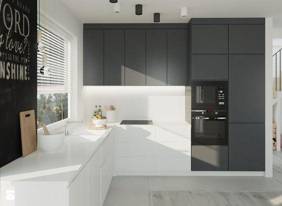 Small kitchen - dark colours