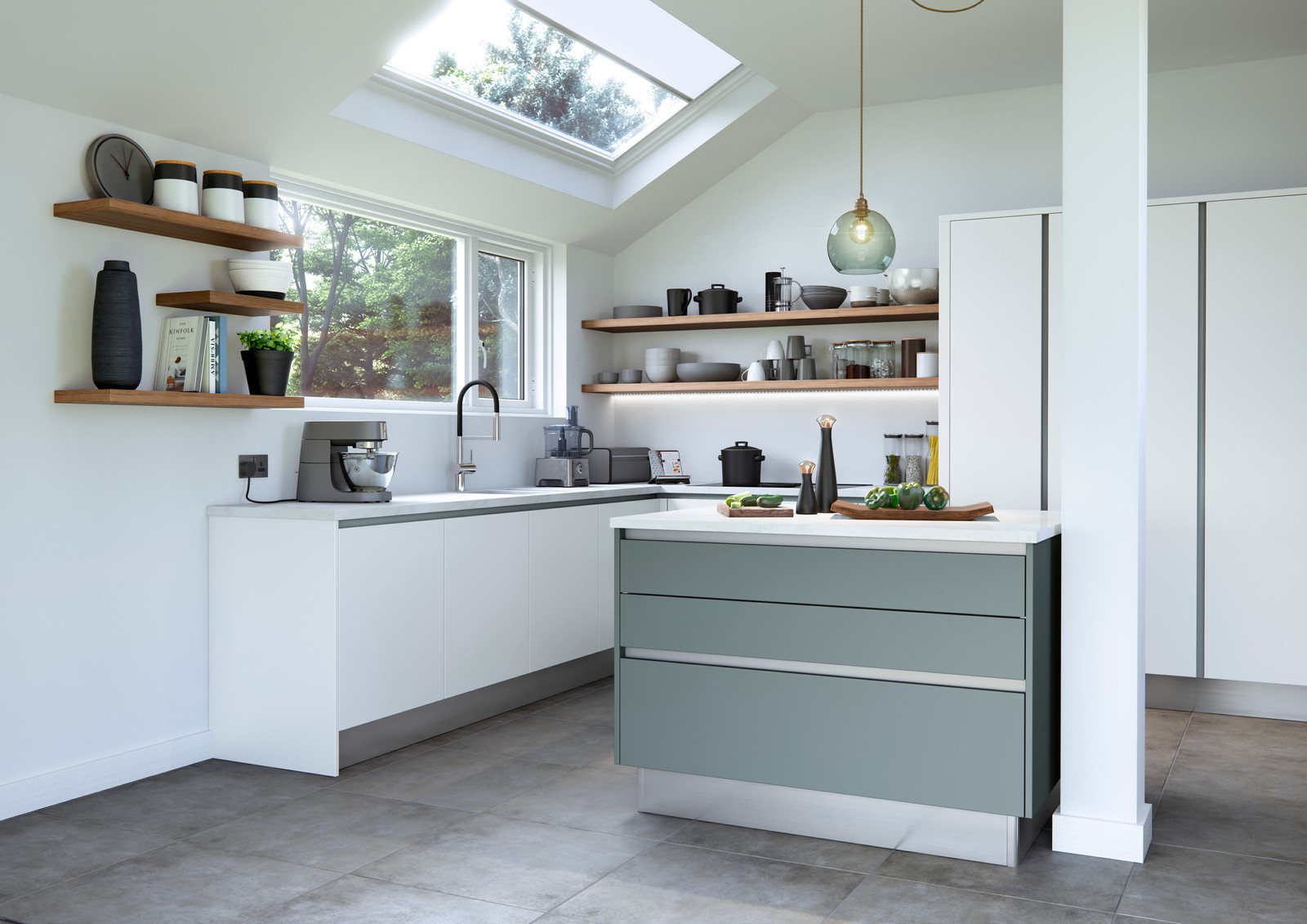 German style HandleLess Kitchen | Manchester | Design by Helium