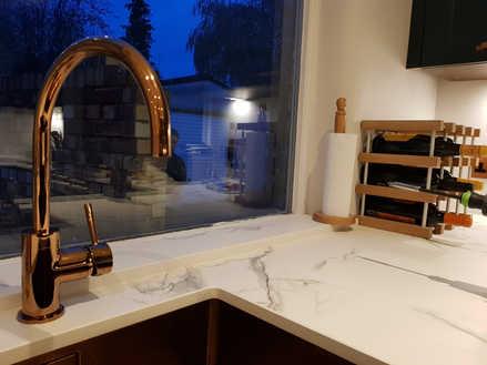 Copper sink & tap
