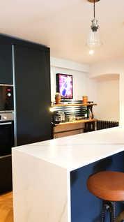 Eclectic basement kitchen
