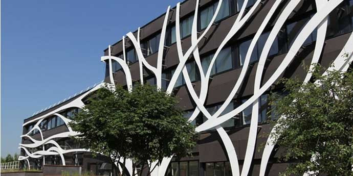 Corian Building exterior in France