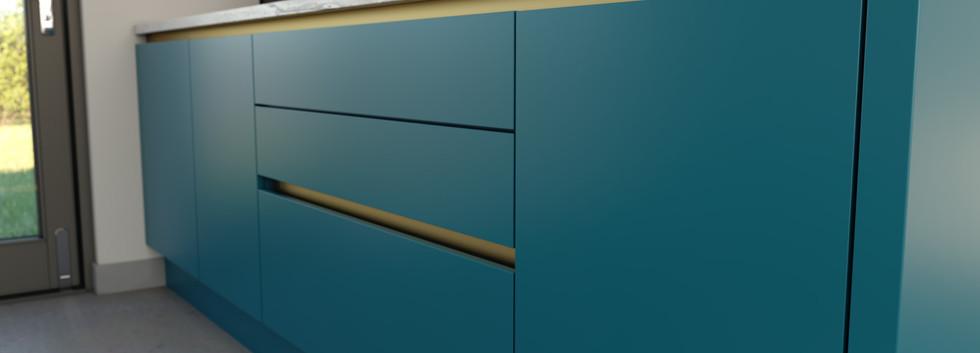 Pardise blue & matt gold