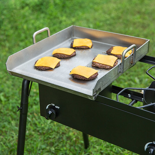 Flat top removable stainless steel griddle plate