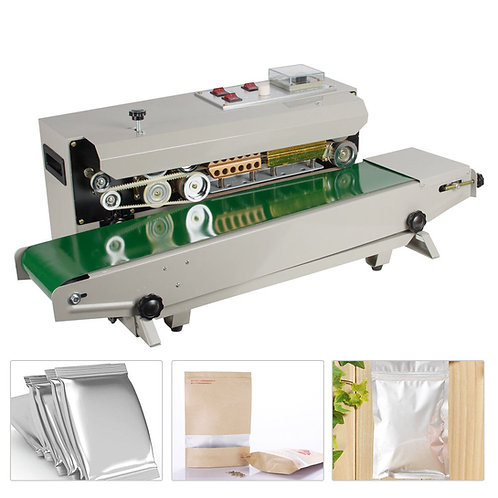Automatic Horizontal Continuous Film Plastic Bag Band Sealing Sealer Machine